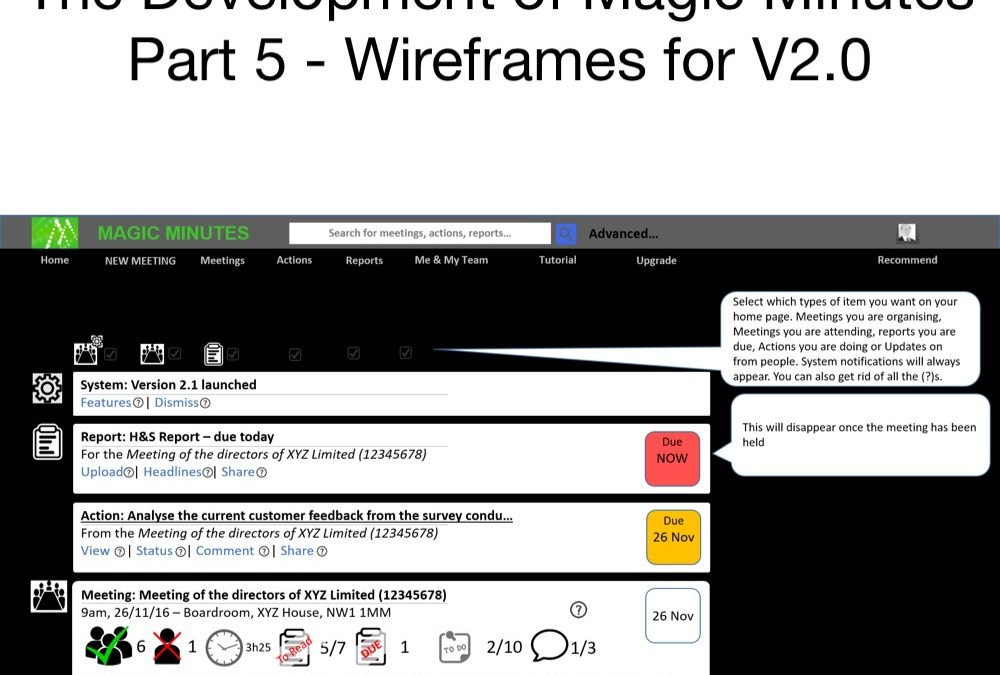 MM History – Part Five – Wireframes for V2.0